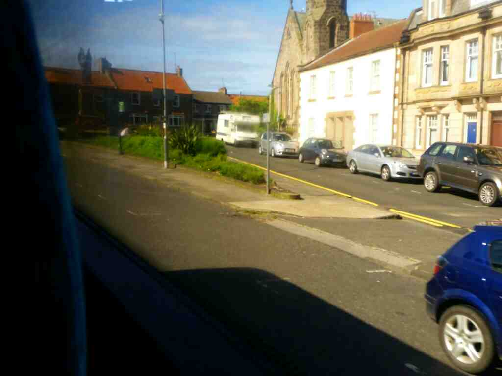 Castlegate Berwick Upon Tweed Northumberland on a X15 Newcastle to Berwick bus