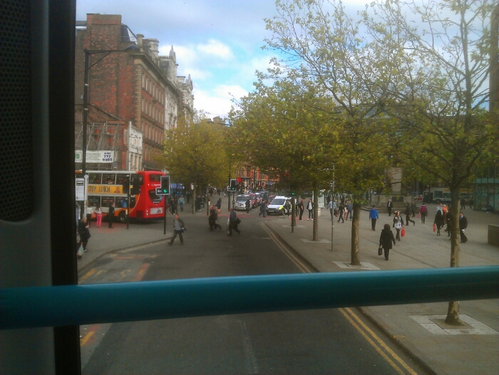 On the 184 in Manchester city centre