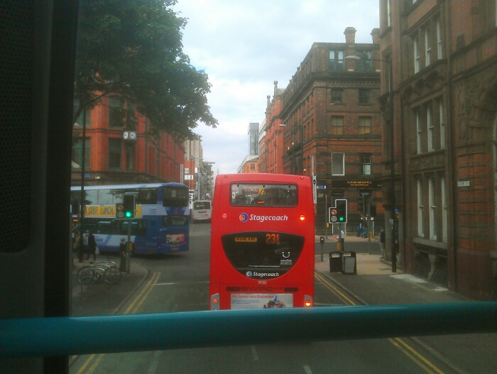 Heading out of Manchester City centre