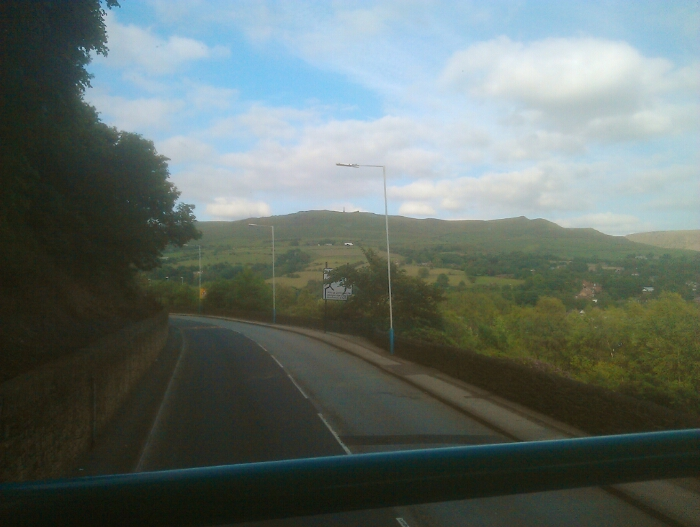 The pennines getting closer just past Lees