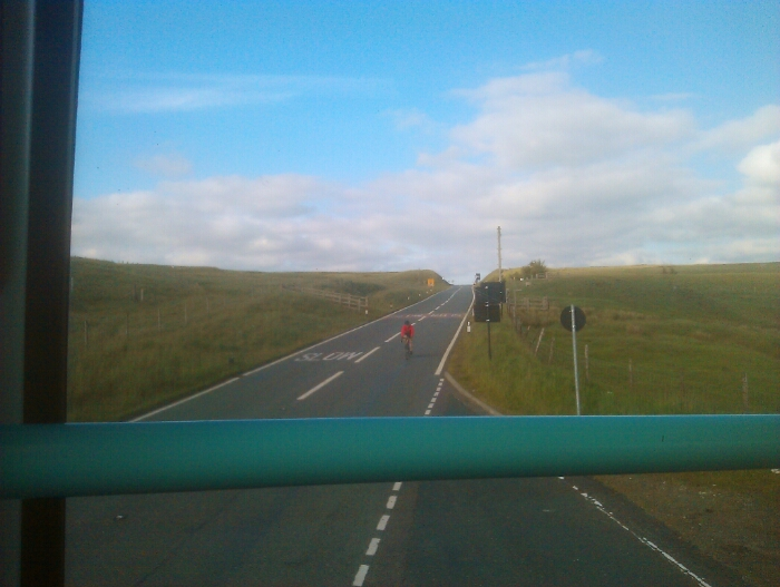 Rejoining. the A62 just before Standedge summit.