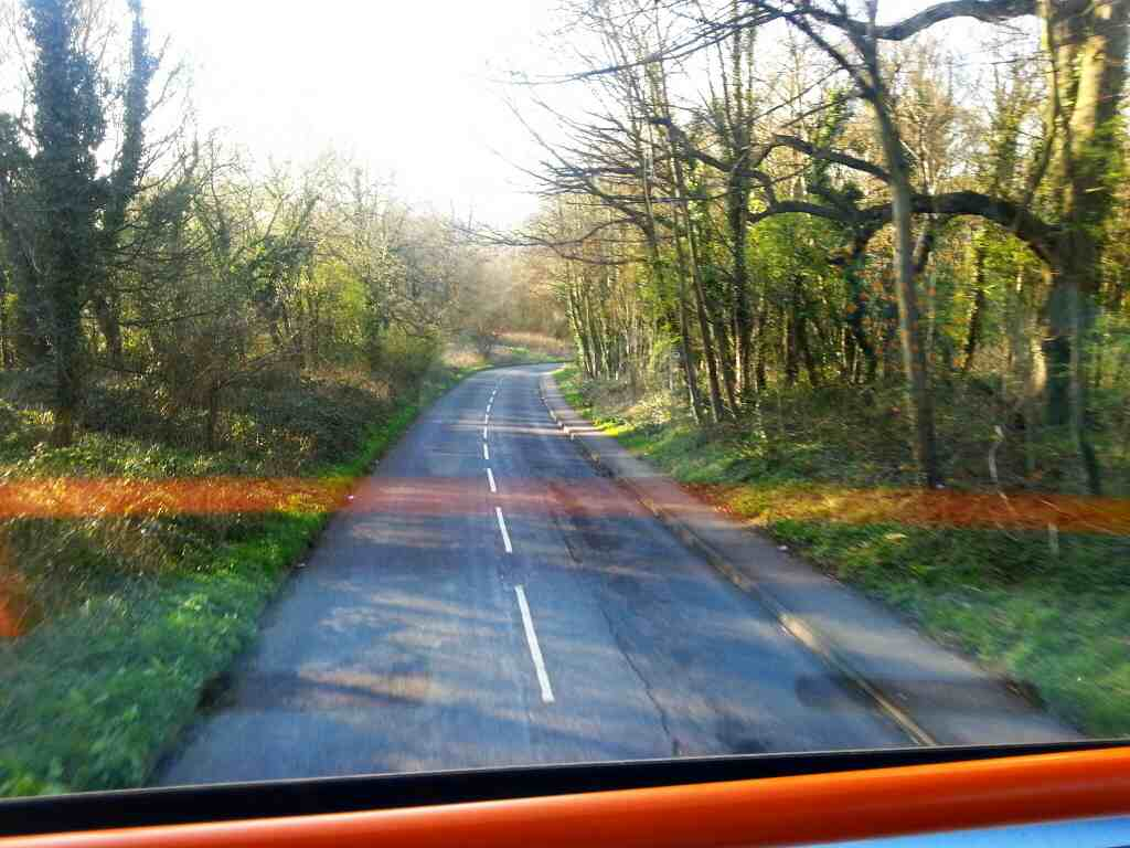 Road between Worsbrough and the A61 on a Stagecoach 265 bus