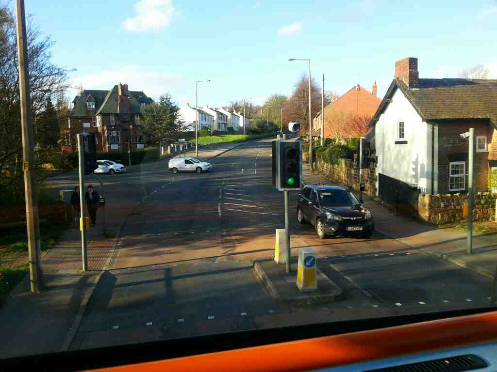 Junction of Vernon Rd and Park Rd the A61 off a 265 bus passing The Ship pub