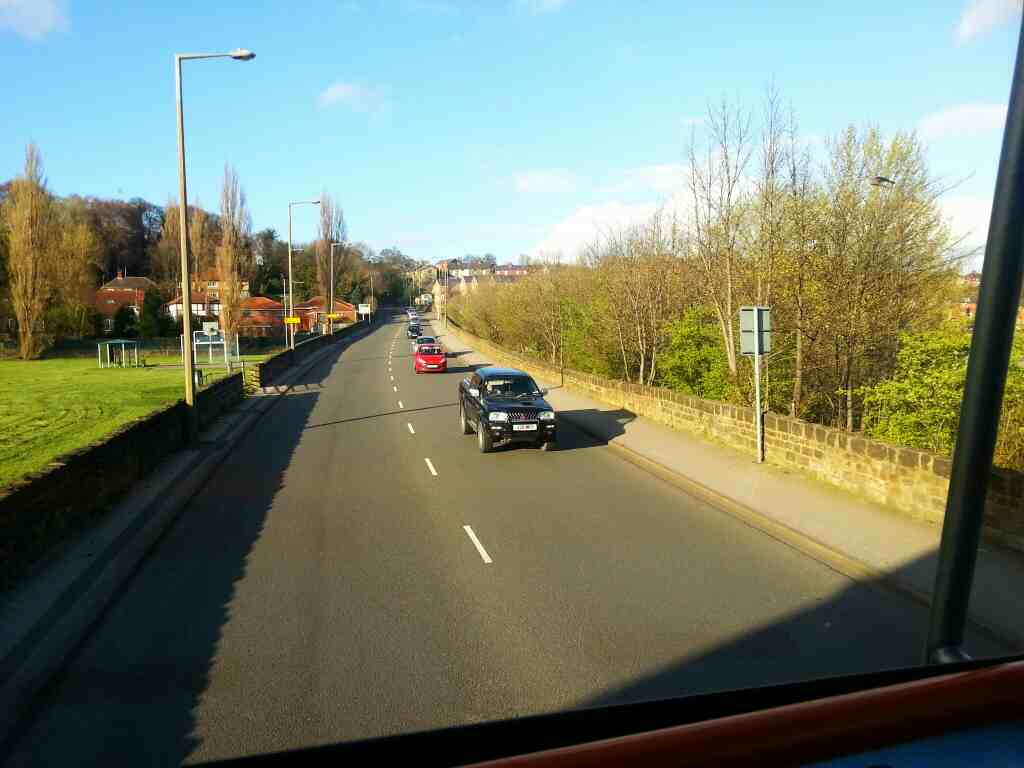Park Rd the A61 North of Worsbrough Bridge on a 265 bus