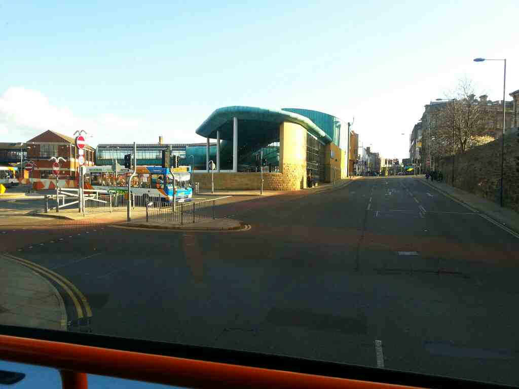 Turning Left into Barnsley Interchange on a 265 bus
