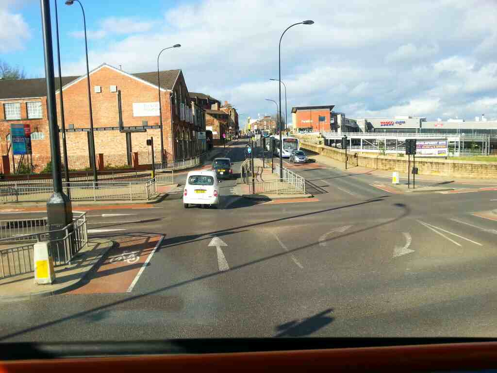 Junction of Savile Street Spital Hill and the Wicker Sheffield off a 265 bus