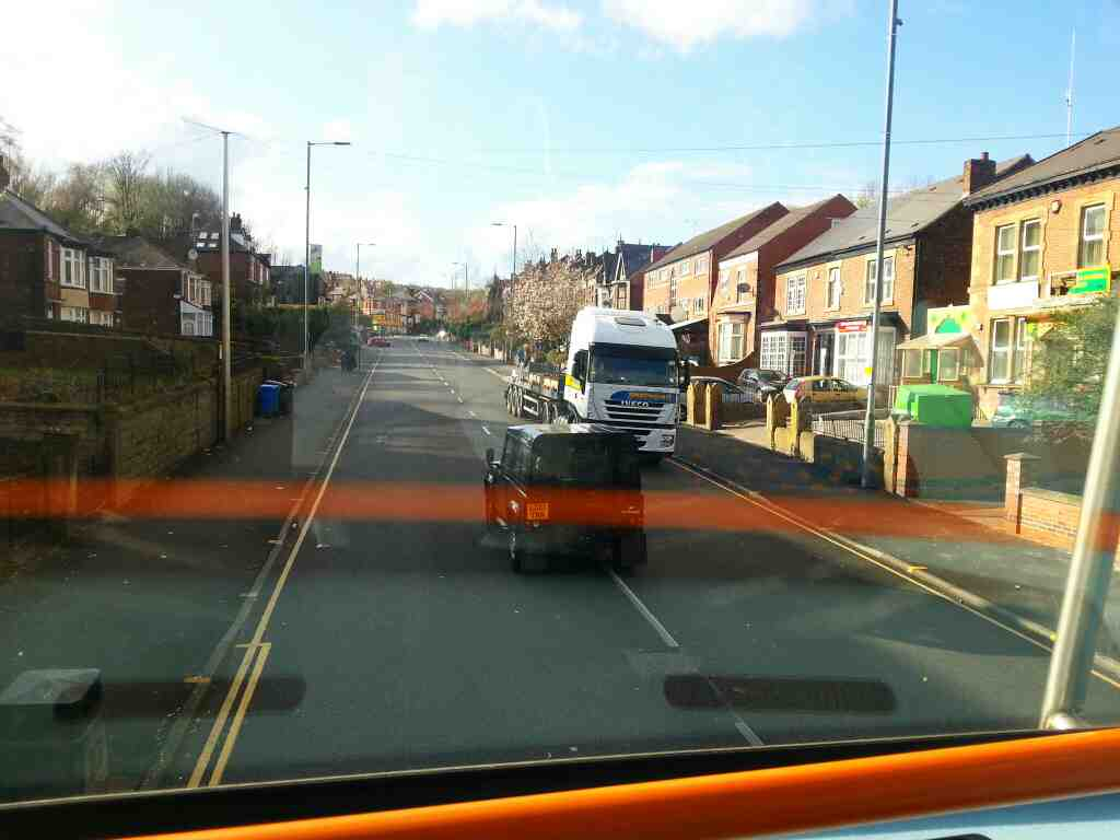 Burngreave Rd off a 265 Barnsley bound bus