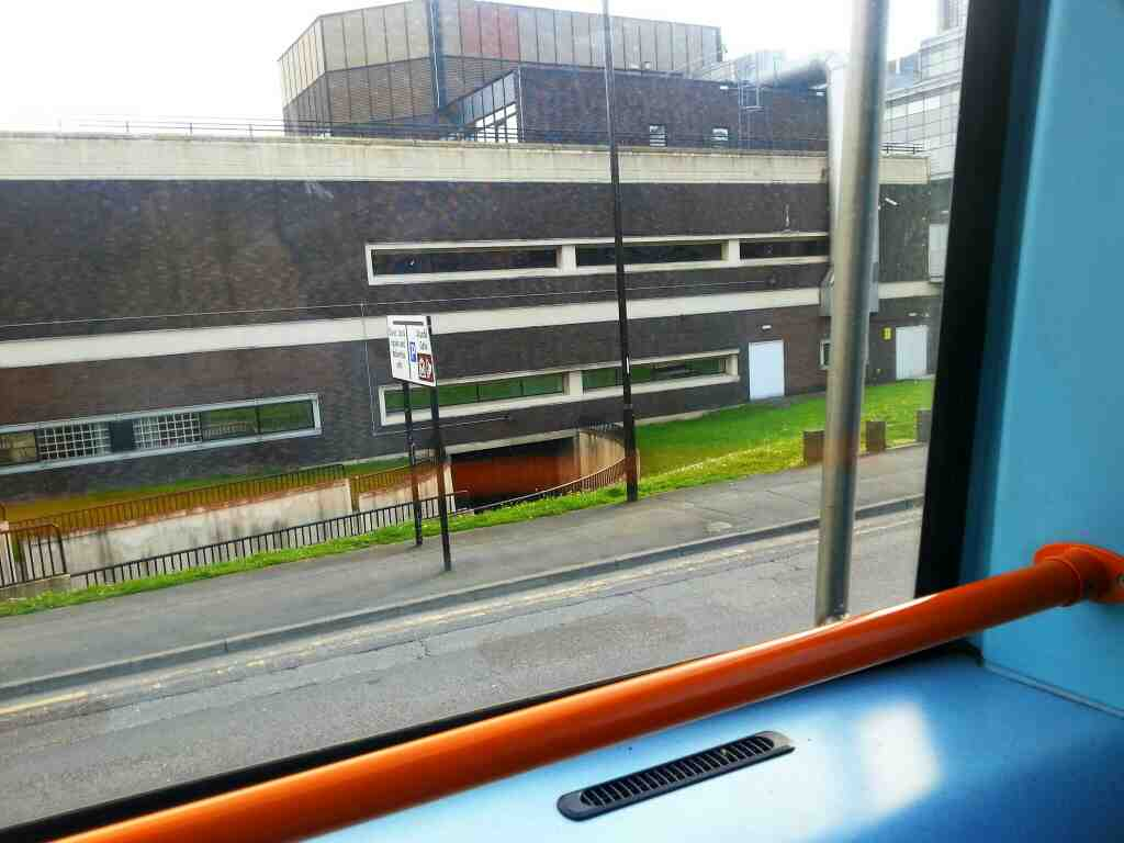Turning right out of Sheffield bus station into Harmer Lane on a 265 bus