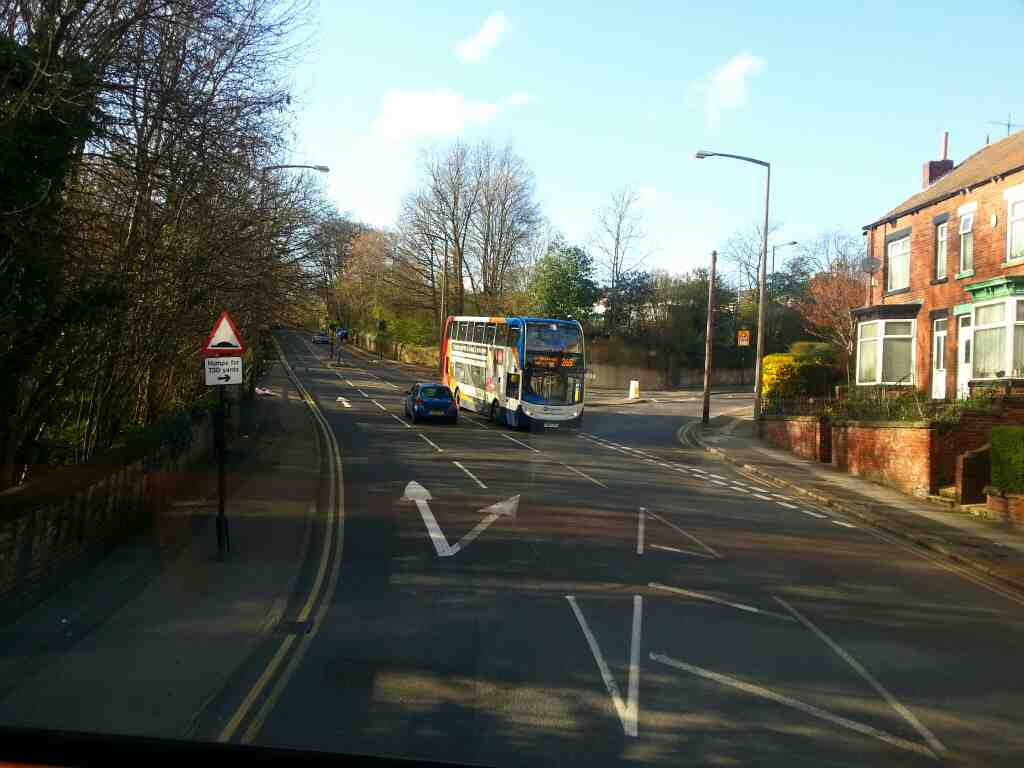 Junction of Hucklow Rd and Barnsley Rd Sheffield off a 265 Barnsley bound bus