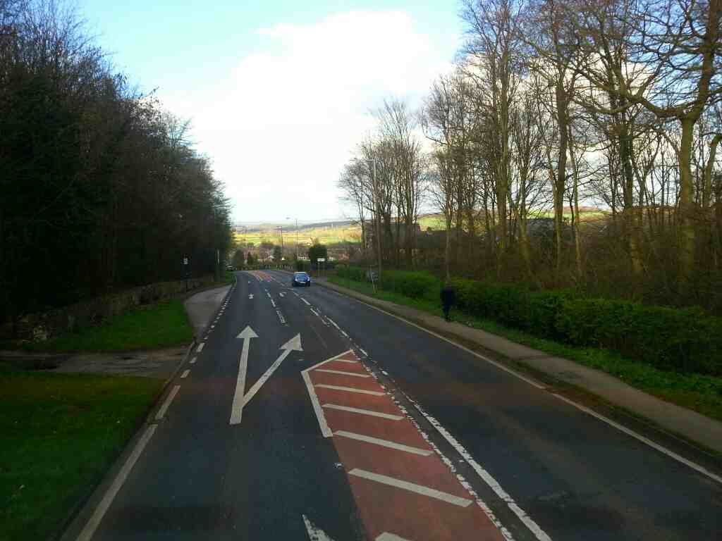 Junction of Kirby Lane and the A6135 South Yorkshire off a Barnsley bound 265 bus