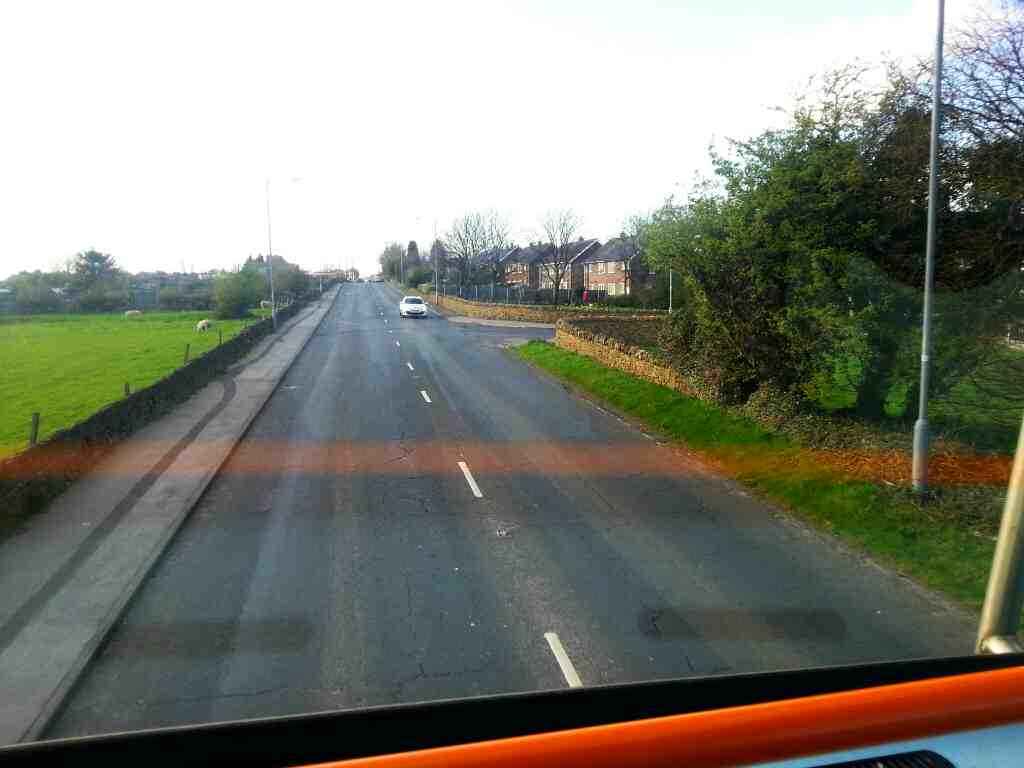 Entering Hoyland on a 265 bus on Sheffield Rd