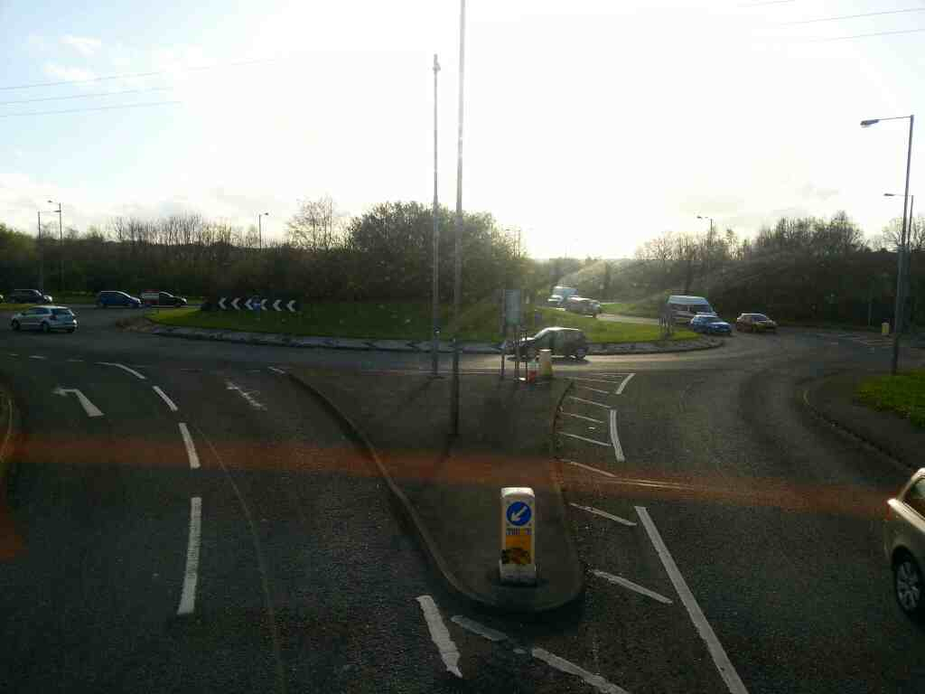 Junction of The Dearne Valley Parkway Sheffield Rd and the A61 Birdwell on a 265 bus