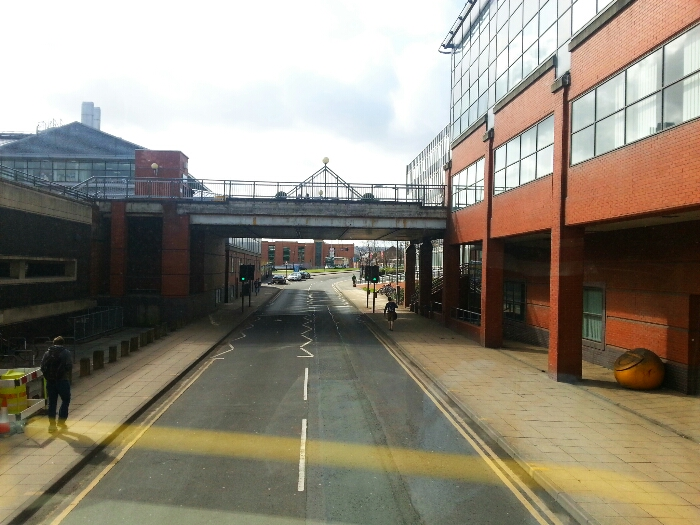 Leaving Sheffield. bus station