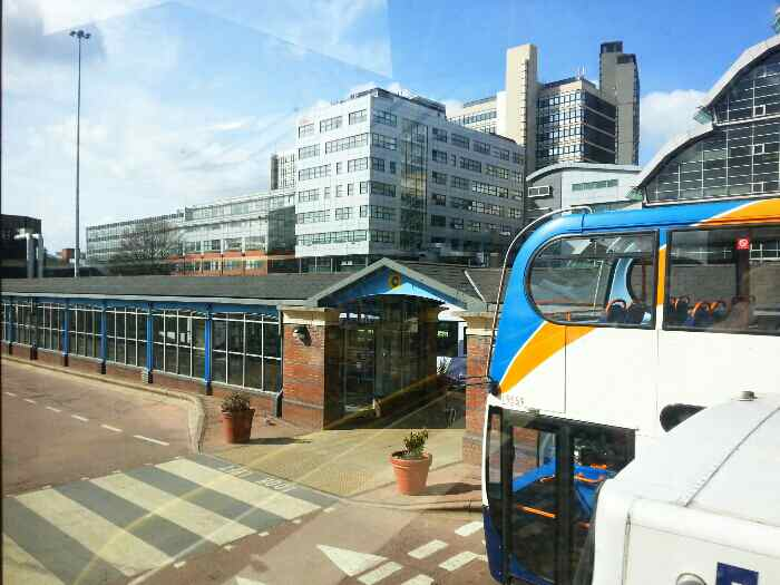 Sheffield bus station.