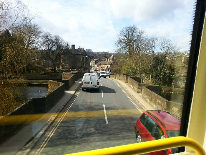 Crossing the river Wye at Bakewell