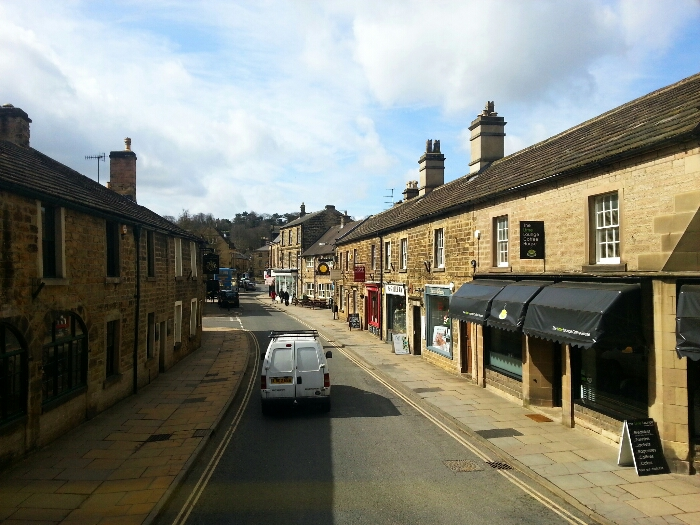 Entering the centre of Bakewell