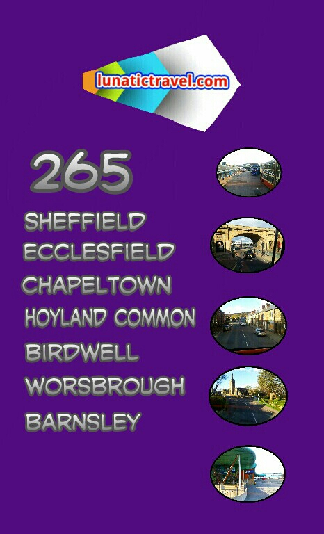 265 Sheffield Ecclesfield Chapeltown Hoyland common Birdwell and Worsbrough Barnsley bus times