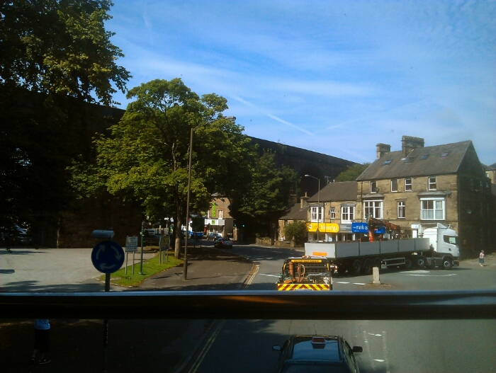 Approaching Buxton town centre.