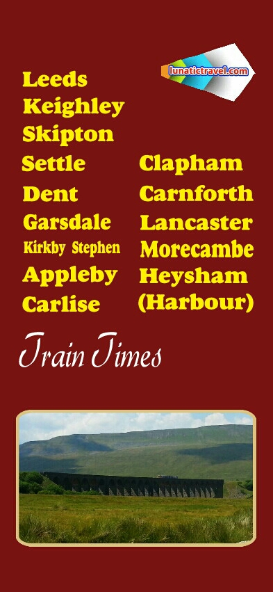 Download the Northern Rail Carlisle Armathwaite Lazonby & Kirkoswald Langwathby Appleby Kirkby Stephen Garsdale Dent Ribblehead Horton-in-Ribblesdale Giggleswick Settle Long Preston Hellifield  Gargrave Bingley Skipton Keighley  Shipley Clapham Bentham Wennington Carnforth Lancaster Bare Lane Morecambe Heysham Port Leeds  timetabletrain  times