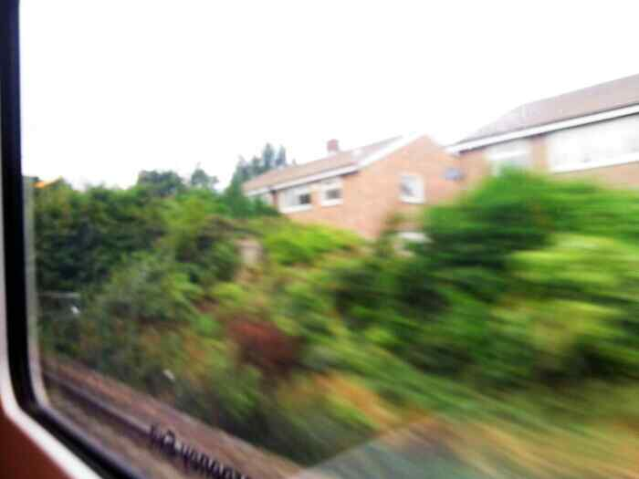 About to pass under Abbeydale Rd South on a train