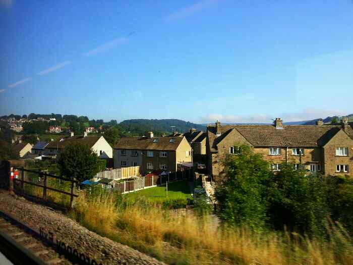 Hathersage from a train