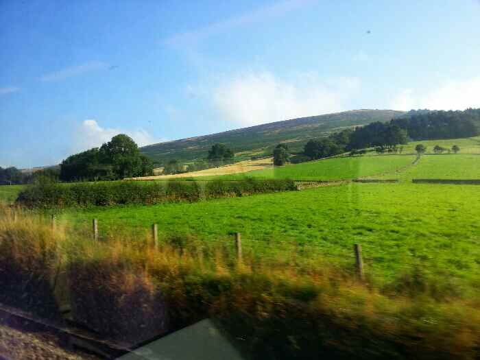 Heading away from Hope up the Edale Valley on a train