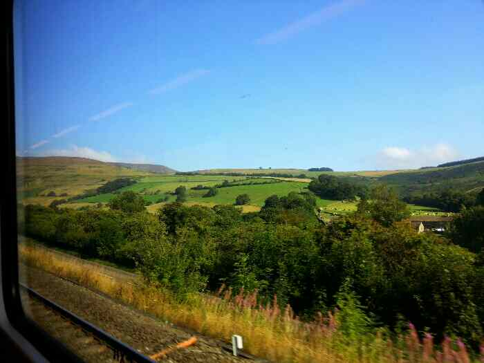 Kinderscout from a train