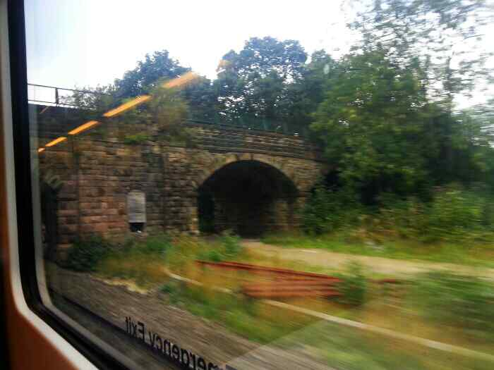 Passing the site of the old Millhouses Station
