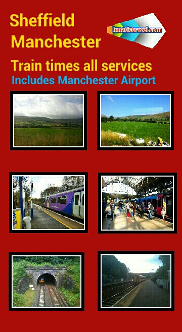 Sheffield d Dore & Totley Grindleford Hathersage Bamford Hope (Derbyshire) Edale Chinley Hazel Grove Stockport New Mills Central Strines Marple Romiley Bredbury Brinnington Reddish North Ryder Brow Belle Vue Ashburys Manchester Piccadilly Manchester Airport train times