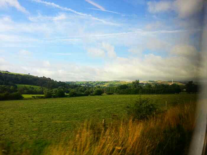 Hope Cement Works from a train