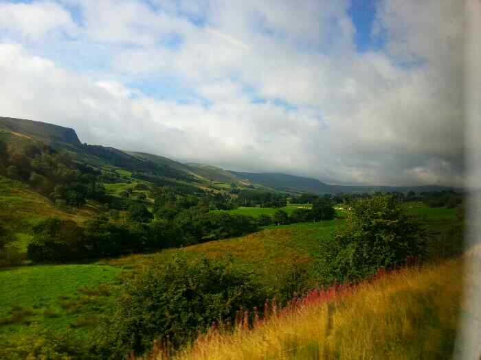 Edale Valley from a train