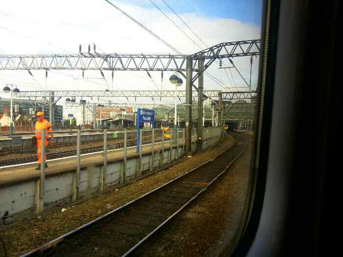 Arriving at Manchester Piccadilly