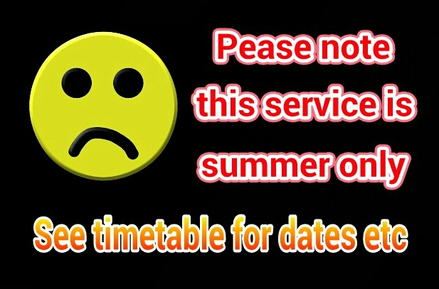 Please note this service is summer only