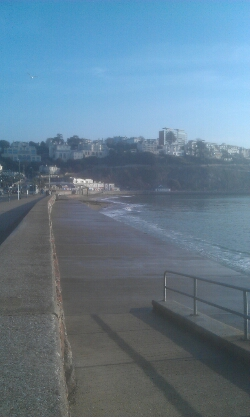 Torquay seafront looking back at Torquay