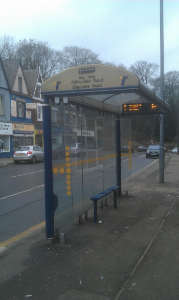 Bus stop Abbeydale rd Carterknowle Rd out of Sheffield