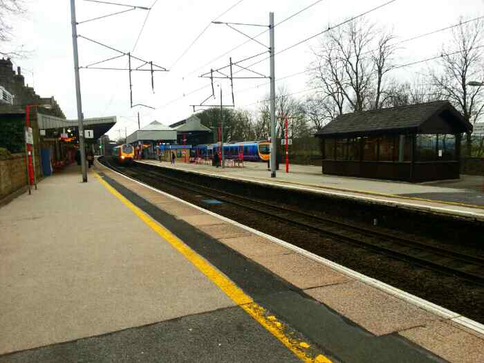 Oxenholme station where the Windermere branch leaves the west coast mainline,