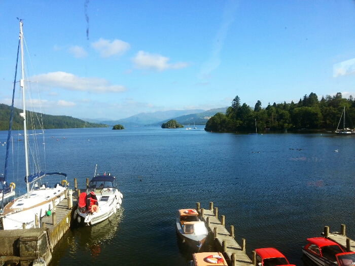 view from crown carvery Windermere