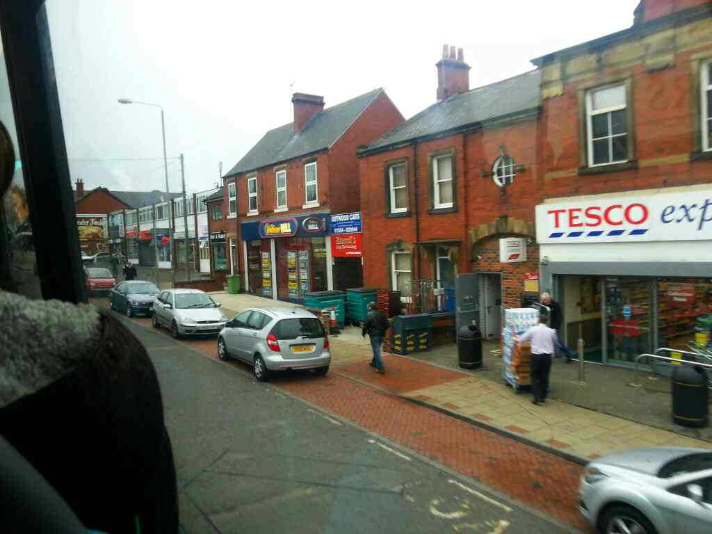 110 bus Passes Tesco Express Outwood on Leeds Rd the A61