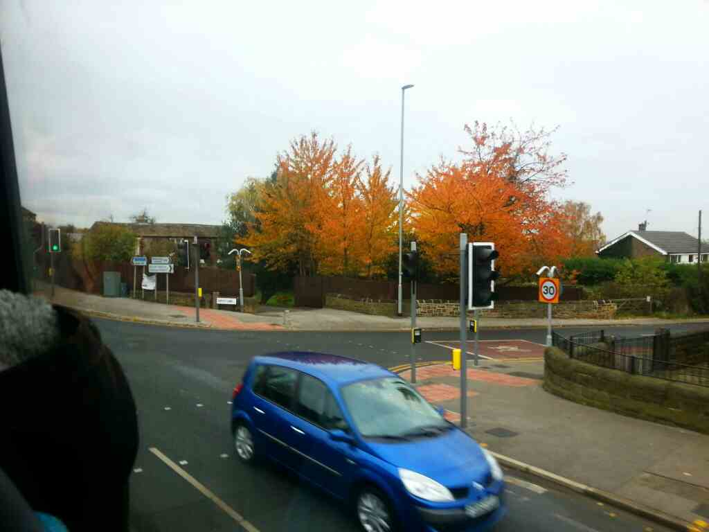 Wakefield Rd the A61 at its junction with Copley Lane