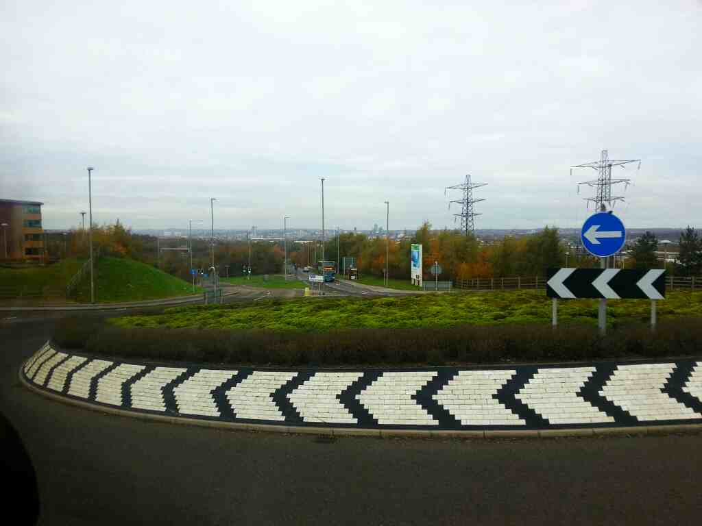 A Roundabout near Leeds on the A61