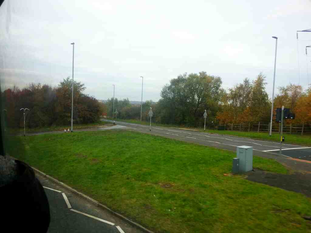 The A61 Wakefield Rd north of Rothwell a strange junction