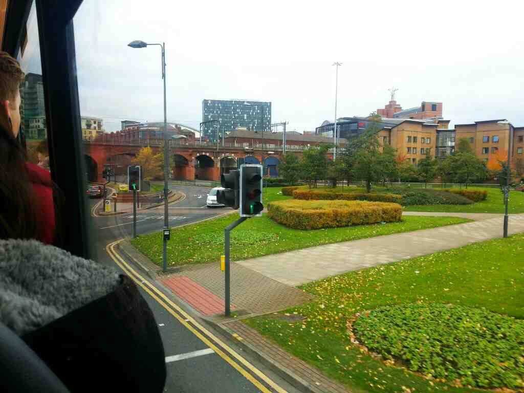 Crossing Kirkgate as we travel along East St on a 110 bus
