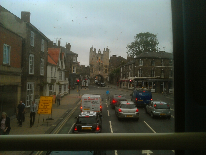 Approaching York city centre.
