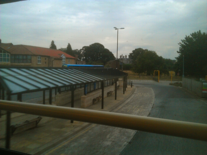 Tadcaster bus station.