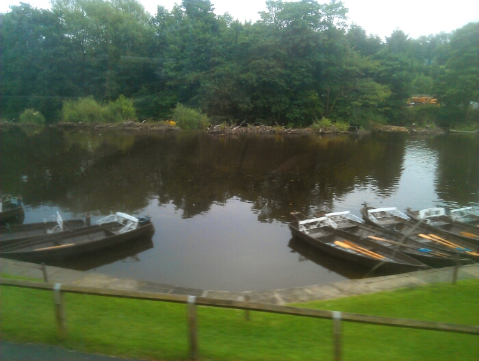 Boat hire on the river Esk at Ruswarp.