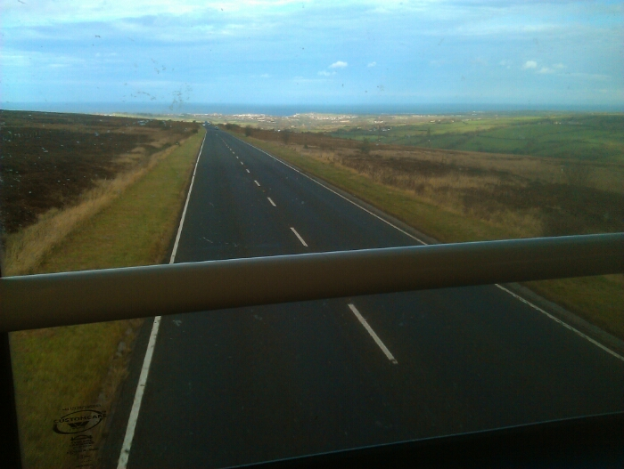 About to drop down off the North York Moors.