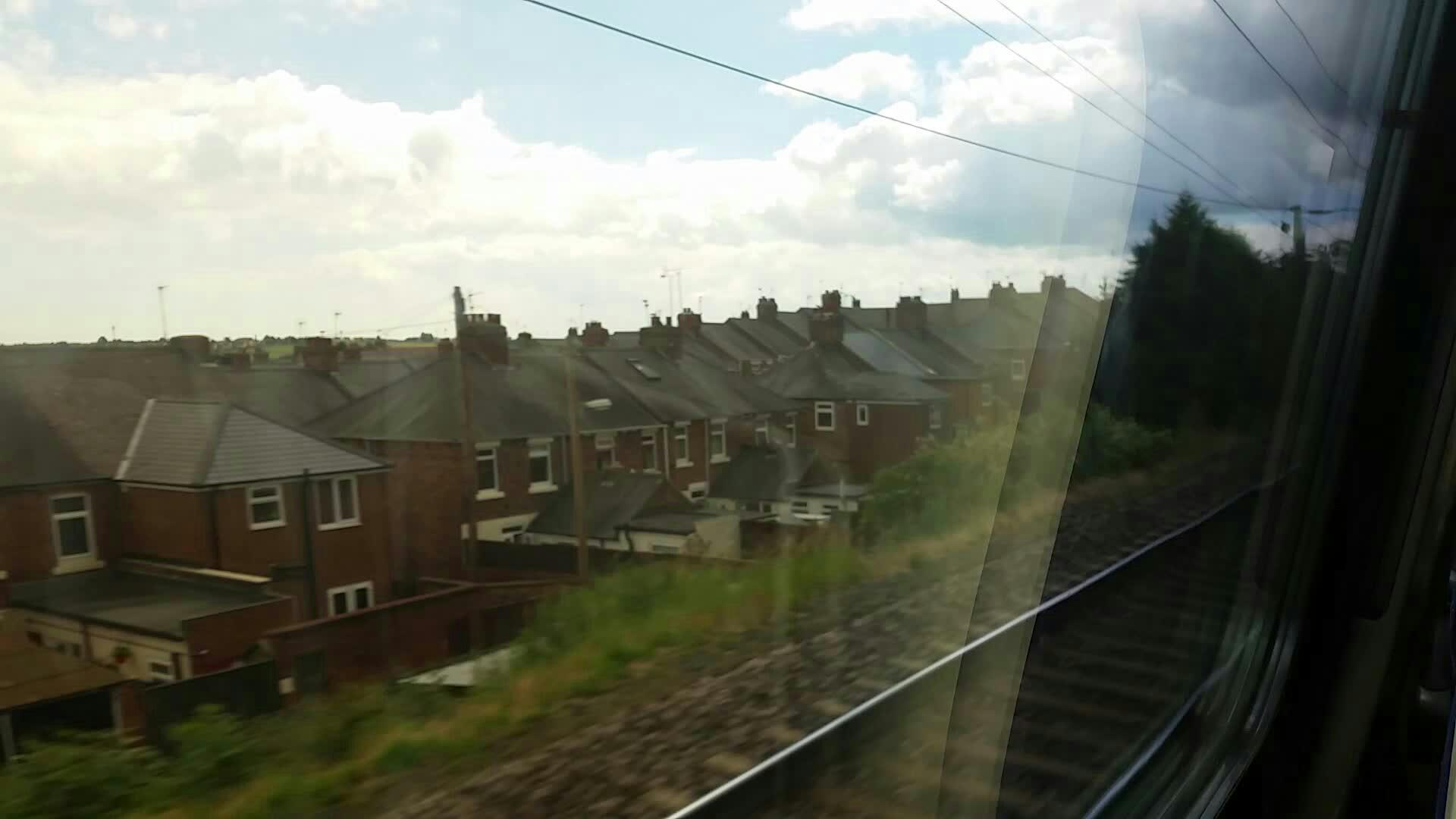 Entering Cheter Le Street on the East Coast Mainline