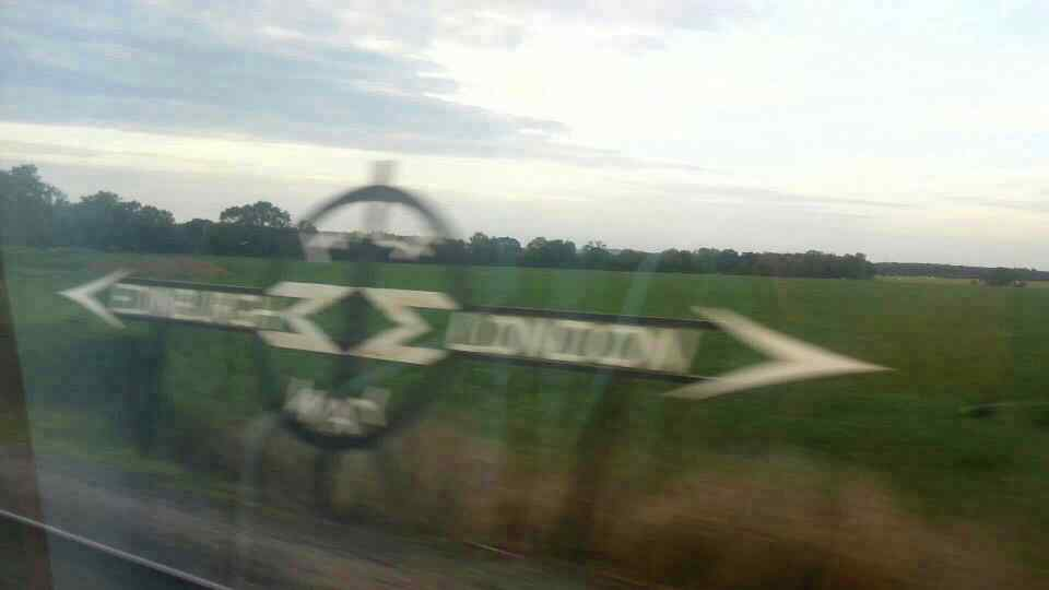 Halfway marker sign between London and Edinburgh on the,East Coast Mainline