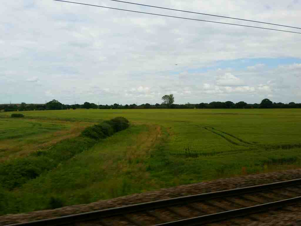 North of Tollerton on the East Coast Mainline