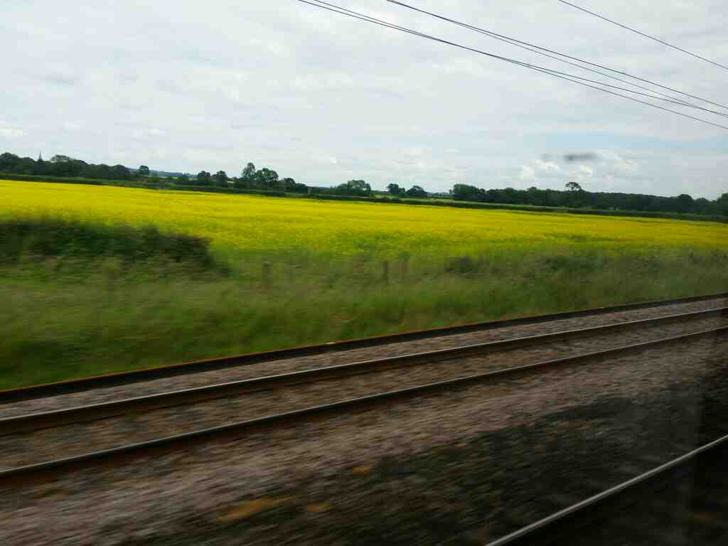 Heading north on the East Coast Mainline just south of Thirsk